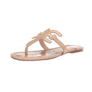Sam Edelman carter patent nude thong sandals